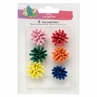 American Crafts - Stay Sweet Collection - Suede Flower Stickers
