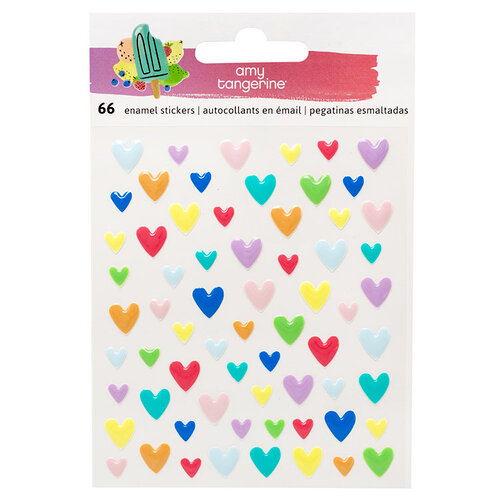 American Crafts - Stay Sweet Collection - Epoxy Heart Stickers