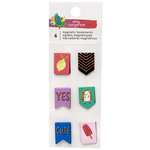 American Crafts - Stay Sweet Collection - Tiny Magnetic Bookmarks with Foil Accents