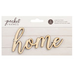 American Crafts - Details 2 Enjoy Collection - Pocket Frames - Laser Cut Words - Home