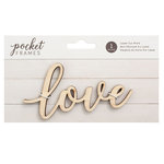 American Crafts - Details 2 Enjoy Collection - Pocket Frames - Laser Cut Words - Love