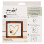 American Crafts - Details 2 Enjoy Collection - Pocket Frames Kit - 6 x 5.5 - Do-It-Yourself - Heart Wreath