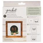 American Crafts - Details 2 Enjoy Collection - Pocket Frames Kit - 6 x 5.5 - Do-It-Yourself - Hi Wreath