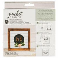 American Crafts - Details 2 Enjoy Collection - Pocket Frames Kit - 6 x 5.5 - Do-It-Yourself - Hi Wreath