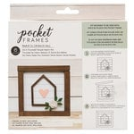 American Crafts - Details 2 Enjoy Collection - Pocket Frames Kit - 6 x 5.5 - Do-It-Yourself - House Heart
