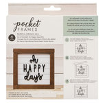American Crafts - Details 2 Enjoy Collection - Pocket Frames Kit - 6 x 5.5 - Do-It-Yourself - Oh Happy Days