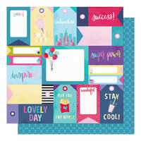 American Crafts - Sparkle City Collection - 12 x 12 Double Sided Paper - Stay Super