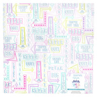 American Crafts - Sparkle City Collection - 12 x 12 Vellum with Foil Accents