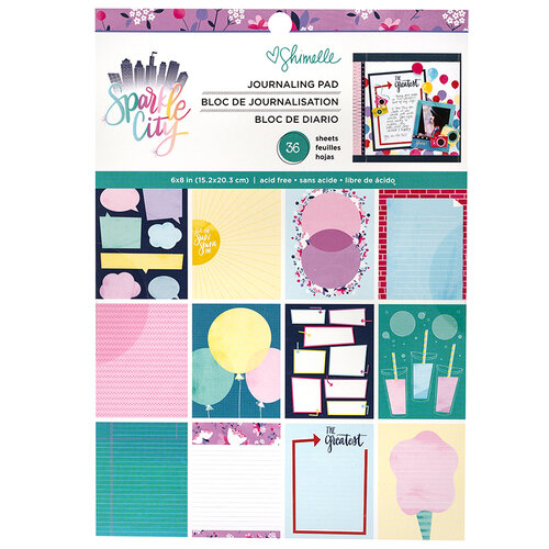 American Crafts - Sparkle City Collection - 6 x 8 Paper Pad
