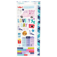 American Crafts - Sparkle City Collection - Cardstock Stickers with Foil Accents - Accent and Phrase