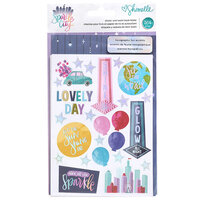 American Crafts - Sparkle City Collection - Sticker and Washi Book with Foil Accents