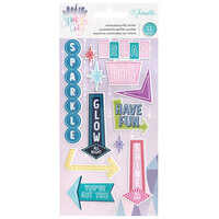 American Crafts - Sparkle City Collection - Embossed Puffy Stickers