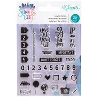 American Crafts - Sparkle City Collection - Clear Acrylic Stamps