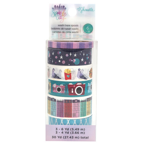 American Crafts - Sparkle City Collection - Washi Tape Set with Foil Accents