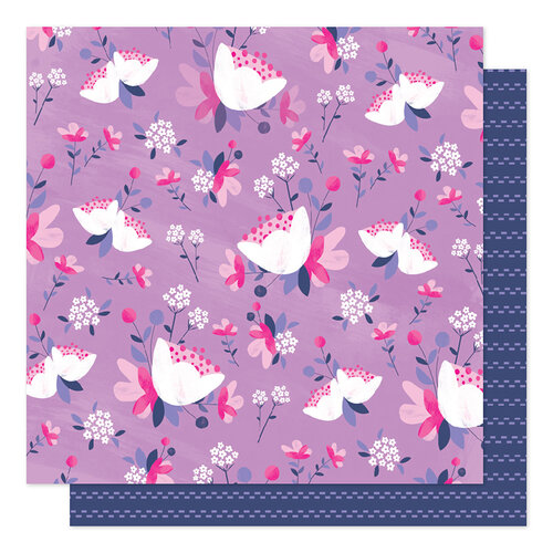 American Crafts - Sparkle City Collection - 12 x 12 Double Sided Paper - Fresh Flowers