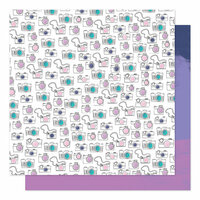 American Crafts - Sparkle City Collection - 12 x 12 Double Sided Paper - Non-Stop Snapshot