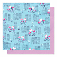 American Crafts - Sparkle City Collection - 12 x 12 Double Sided Paper - Spring In The City