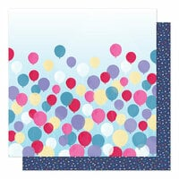 American Crafts - Sparkle City Collection - 12 x 12 Double Sided Paper - Time To Party