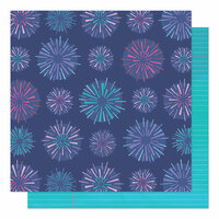 American Crafts - Sparkle City Collection - 12 x 12 Double Sided Paper - Sparkly Sky