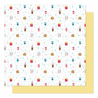 American Crafts - Sparkle City Collection - 12 x 12 Double Sided Paper - Grab and Go