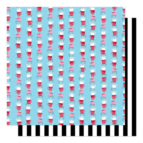 American Crafts - Sparkle City Collection - 12 x 12 Double Sided Paper - Clean Cup