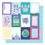 American Crafts - Sparkle City Collection - 12 x 12 Double Sided Paper - Dream Big