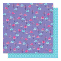 American Crafts - Sparkle City Collection - 12 x 12 Double Sided Paper - Rainy Day