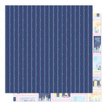 American Crafts - Sparkle City Collection - 12 x 12 Double Sided Paper - Postcards Home