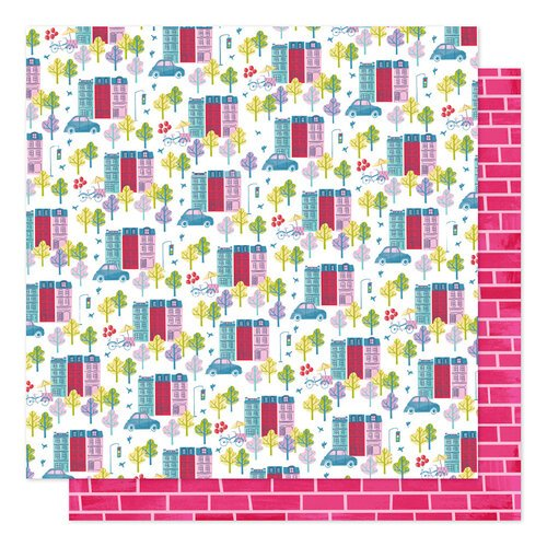 American Crafts - Sparkle City Collection - 12 x 12 Double Sided Paper - Our House
