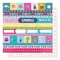 American Crafts - Sparkle City Collection - 12 x 12 Double Sided Paper - Perfect Day