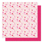 American Crafts - Sparkle City Collection - 12 x 12 Double Sided Paper - Polka Dot Pansy