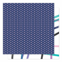 American Crafts - Sparkle City Collection - 12 x 12 Double Sided Paper - Here To There