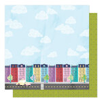 American Crafts - Sparkle City Collection - 12 x 12 Double Sided Paper - Painted Ladies