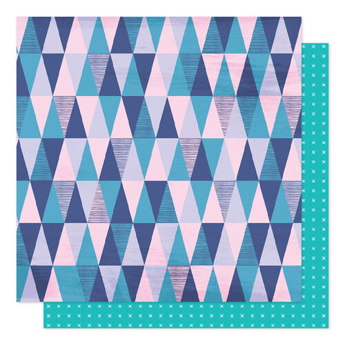 American Crafts - Sparkle City Collection - 12 x 12 Double Sided Paper - Mountain View