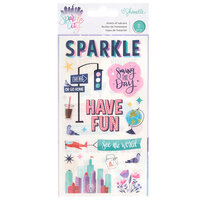 American Crafts - Sparkle City Collection - Rub Ons