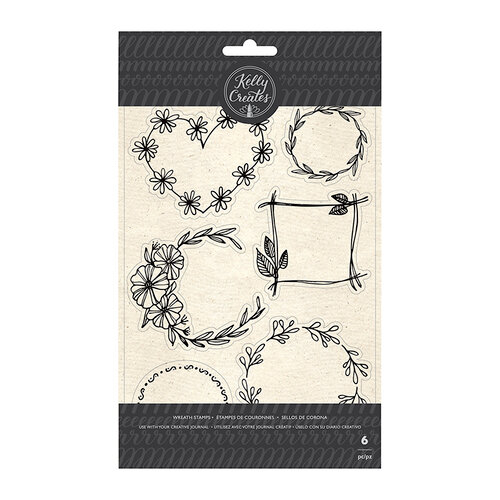 Kelly Creates - Clear Acrylic Stamps - Floral Wreaths
