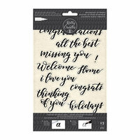 Kelly Creates - Clear Acrylic Stamps - Traceable - Bouncy Sentiments