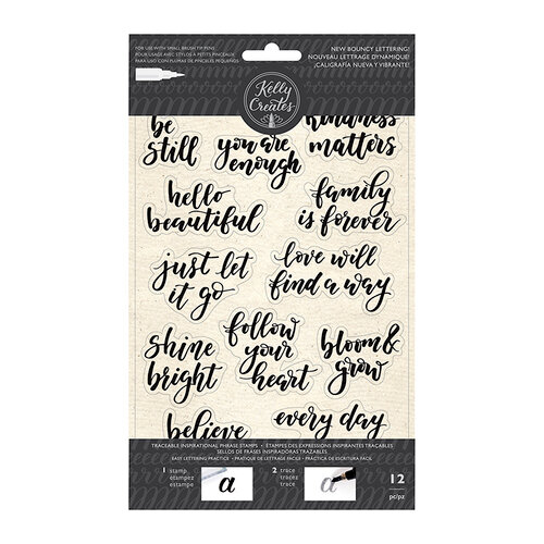 Kelly Creates - Clear Acrylic Stamps - Traceable - Bouncy Inspirational Phrases