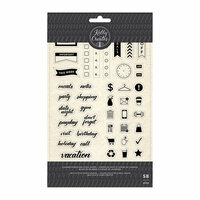 Kelly Creates - Clear Acrylic Stamps - Planner Words and Icons