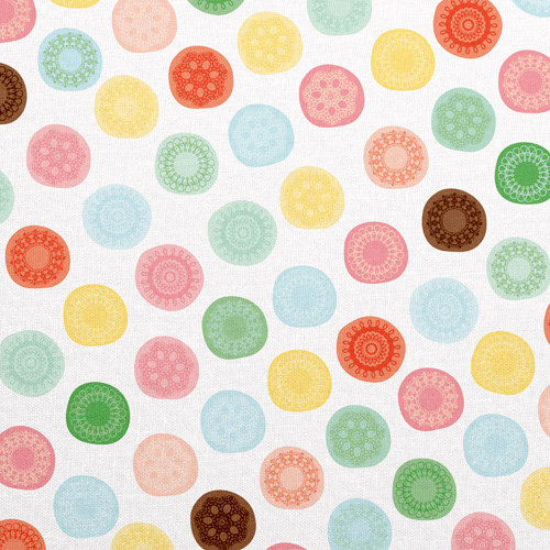 American Crafts - Dear Lizzy Spring Collection - 12 x 12 Fabric Paper - Busy Beetle, CLEARANCE