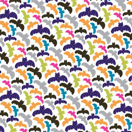 American Crafts - Boo Collection - Halloween - 12 x 12 Double Sided Paper - Lydia J. Fungus