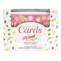 American Crafts - Stay Sweet Collection - Boxed Cards Set