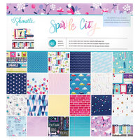 American Crafts - Sparkle City Collection - 12 x 12 Paper Pad with Foil Accents