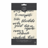 Kelly Creates - Clear Acrylic Stamps - Traceable - Celebration - Spanish