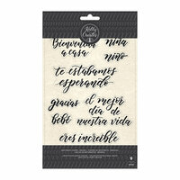 Kelly Creates - Clear Acrylic Stamps - Traceable - Sentiments - Spanish