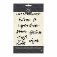Kelly Creates - Clear Acrylic Stamps - Traceable - Quotes 1 - Spanish