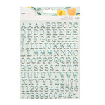 American Crafts - It's All Good Collection - Puffy Stickers - Mini Alpha