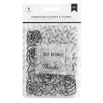 American Crafts - Embossing Folders and Clear Acrylic Stamp Sets - Just Because