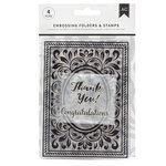 American Crafts - Embossing Folders and Clear Acrylic Stamp Sets - Congratulations Flourish