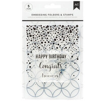 American Crafts - Embossing Folders and Clear Acrylic Stamp Sets - Hooray
